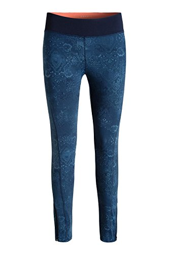 Esprit Sports 016ei1b007 - E-dry Funktions Pants Denim Print - Pantalon de sport - Femme Bleu - Blau (DARK BLUE 3 407)