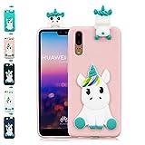 LA-Otter Coque iPhone X/iPhone XS Rose Licorne Ultra Fine Slim Mince Silicone TPU Gel...