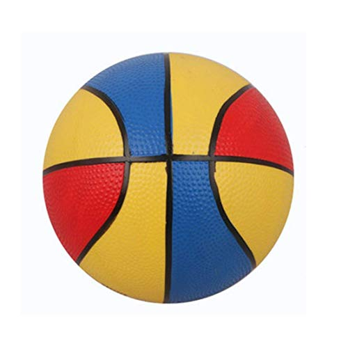 Emob® High Quality PVC Material 6 Inch Tri Color Basketball Sports Toy for Kids Basketball - Size: 3