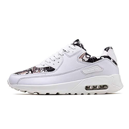 MISS&YG Herren Sneakers Laufen Schuhe Reise Schuhe Kissen Lässige Schuhe Laufschuhe,Whitegray,45