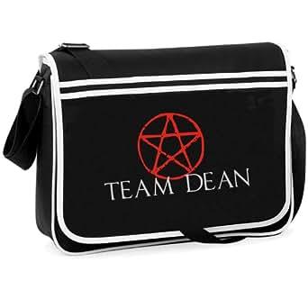 TEAM DEAN...Retro Messenger Bag.... Cult/TV/Super Natural