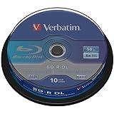 Verbatim 43746 BD-R DL Rohlinge (6x Speed, 50GB, 10-er Stück Spindle)