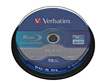 Verbatim (43746) : BD-R DL 6x 10-pack : Blu-Ray Optical Media
