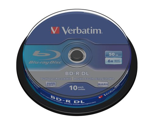 Verbatim 43746 BD-R DL 50GB 6x - 10 Pack Spindle Test