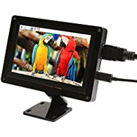 GeeekPi Acrylic Bracket with 5 Inch Capacitive Touch Screen 800x480 HDMI Monitor TFT LCD Display for Raspberry Pi 3/2 Model B/B+/Pi Zero & BeagleBone Black & PC