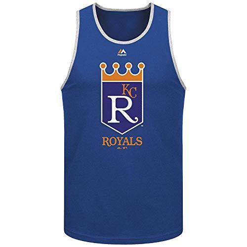 Majestic Athletic Kansas City Royals Herren Fähigkeiten Test Tank Top, Herren, Königsblau, Small