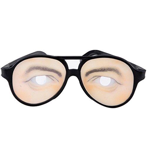 Huhuswwbin Lustige Fake Eyes Verkleidungsbrille für Maskenbälle, Halloween, Kostümparty, Herren, Herren