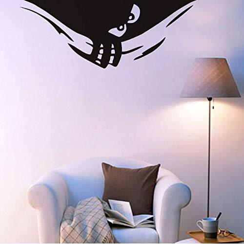 Yssyss Hinterlistig Spähen Monster Vinyl Entfernbare Wandaufkleber Niedlich Monster Halloween Dekoration Wandkunst Dekor Kinderzimmer Wohnkultur 111 * 43 ()