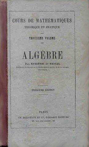 Algèbre et Trigonométrie rectiligne - Troisième volume
