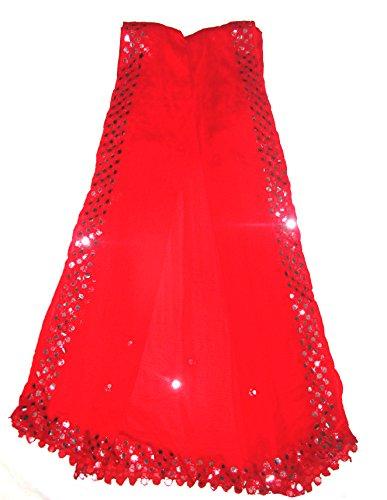 jyoti fancy women's party wear dupatta colour: [ red ]