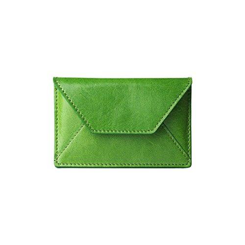 Fall Leder-karte Italienische (Alto handgefertigt Premium italienischem Leder Karte Halter grün grün)
