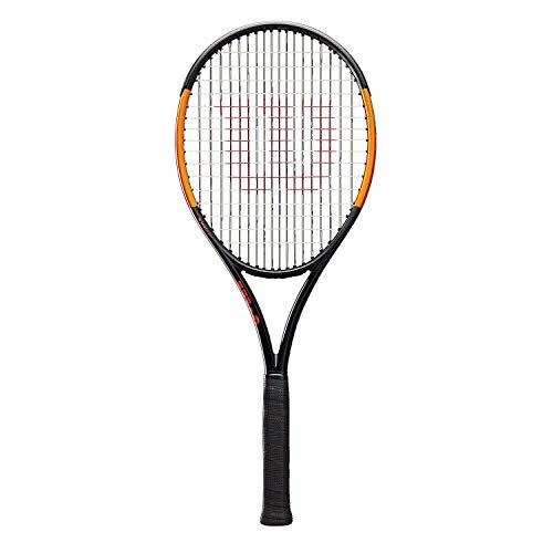 Wilson Raquette de Tennis , Burn 100Ls, Unisexe, pour Joueurs Intermédiaires, Taille de Manche L3, Gris/Orange, Wr000210U3