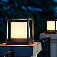 Al Aire Libre a Prueba de Agua Columna Pilar Linterna E27 Publicar Lámparas Creativa Cristal Cuadrado