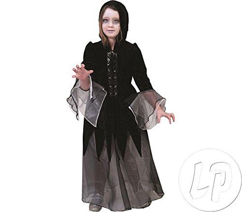 Pierro´s Kostüm Hexe Hazel Kind Kinderkostüm Mädchen Kleid Gr. 128 140 152 164 für Karneval, Fasching, Motto, Fete, Feier und Party / Halloween, Hexenkostüm, Hexe, Teufel, Vampir, Dracula, Horror
