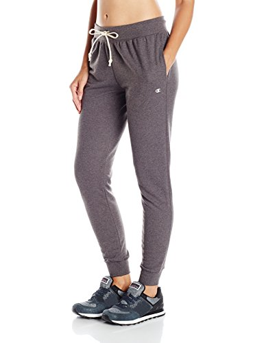 Champion Women's French Terry Jogger Pants M Grey (Pant Drawstring Pocket)