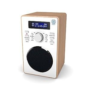 Barton Retro DAB / DAB+ Digital FM Upright Radio / Alarm Clock / Wood Effect Finish / Mains Powered by Majority