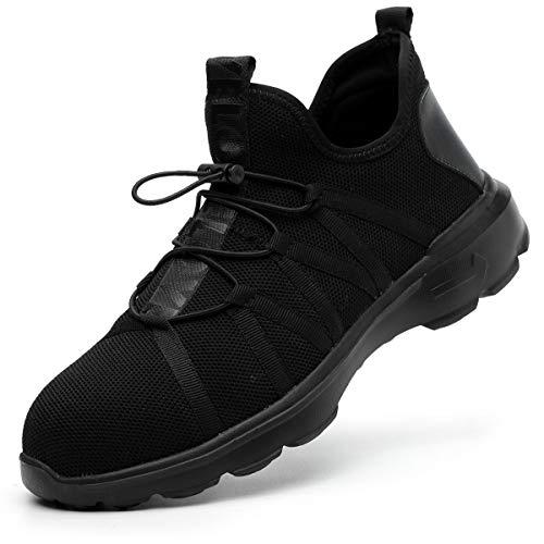 SROTER Scarpe Antinfortunistiche Uomo Donna Scarpe da Lavoro con Punta in Acciaio Leggere Traspiranti Sneaker da Lavoro Leggere Scarpe Sportive di Sicurezza