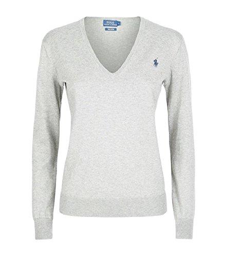 Polo Ralph Lauren Damen Pullover Eloise Pima Cotton Hellgrau (L)