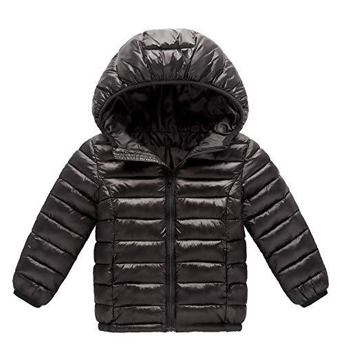 Mbby cappotto di piumino da ragazzi invernale, 0-8anni capispalla con cappuccio e cerniera in cotton tinta unita caldo leggero addensare antivento giacche imbottito giubbotti