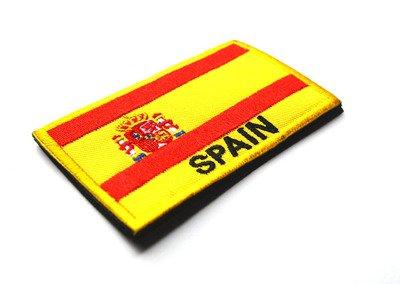 Sconosciuto generic ricamato bandiera della nazione patch esercito distintivo patch 3d tattico militare patch tessuto panno combattimento bracciale bandiera del mondo badge: la spagna wold