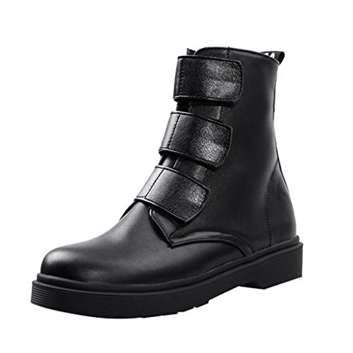 LILIHOT Damen Ankle Booties GroßE, Kurze Stiefel Mit Niedrigen AbsäTzen Und Runde Zehen Mode Schuhe Boots Damen Stiefel Wasserdicht Kurz Stiefeletten Schuhe Winter Stiefel -