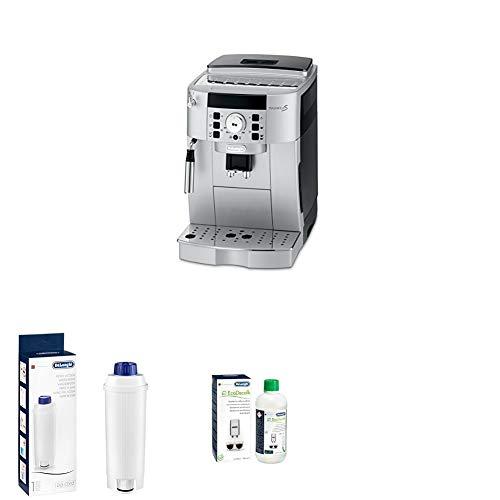 De\'Longhi Magnifica S ECAM Kaffeevollautomat + Wasserfilter   Zubehör für alle De\'Longhi Kaffeevollautomaten mit Wasserfilter + EcoDecalk Entkalker   Universal Kalklöser für 4 Entkalkungsvorgänge