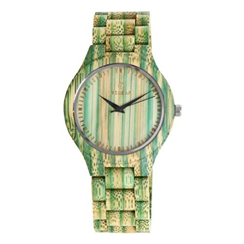 Wasserdichte Quarzuhr für Frauen. Mode zu sehen Hölzerne Uhr Bambus-Armband Hölzerne Kugel Stunde Schmerzlinderung/Alles ist natürlich