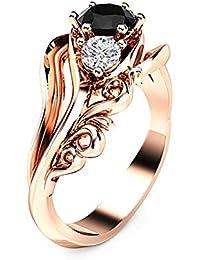 Luxus Silber Farbe Schloss Ring für Damen Schmuck Hochzeit Ringe Modisch Nett