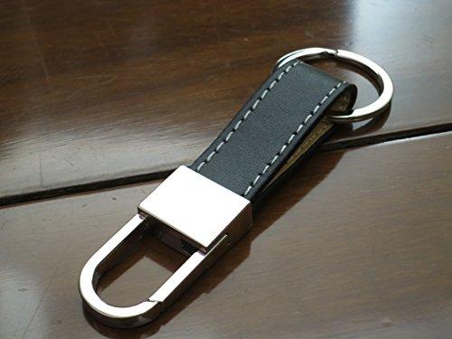 Preisvergleich Produktbild Herren Fashion Luxus Weiche Leder Gürtel Auto Schlüsselanhänger Key Ring Kette Schlüsselanhänger (KE0001)