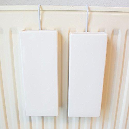 Carat 2er Set Luftbefeuchter für Heizung Keramik/Ton - Wasserverdunster - für Heizkörper - neutral