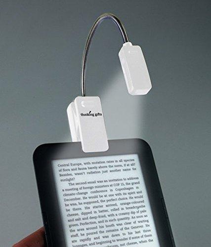 Preisvergleich Produktbild LED Leselampe mit Klammer für eBook Reader, Weiß