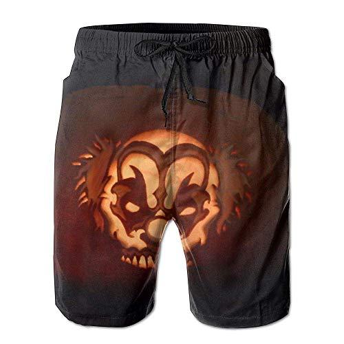 Herren Sommer Halloween Kürbis Ghost Light Schnelltrocknend Badehose Boader Shorts Beach Badeanzug Sport, Größe M