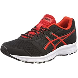Asics Patriot 9 GS, Zapatillas de Running Unisex Niños, Negro (Black/Fiery Red/White 9023), 40 EU