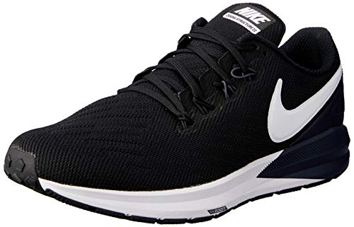 Nike Herren Air Zoom Structure 22 Laufschuhe, Mehrfarbig (Black/White/Gridiron 002), 45.5 EU - Air Zoom Basketball