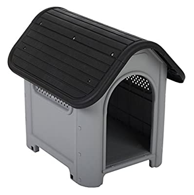 POLLY Quality Plastic Dog Kennel - Easy Assembly Suitable for Both Indoors and Outdoors - Easy to Clean with Lots of Air Slits - Perfect for Dogs with Allergies by Polly