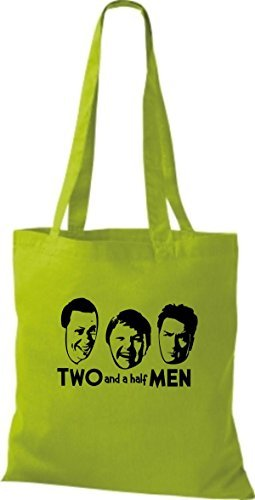 ShirtInStyle Stoffbeutel Two And A Half Men, diverse Farbe lime green