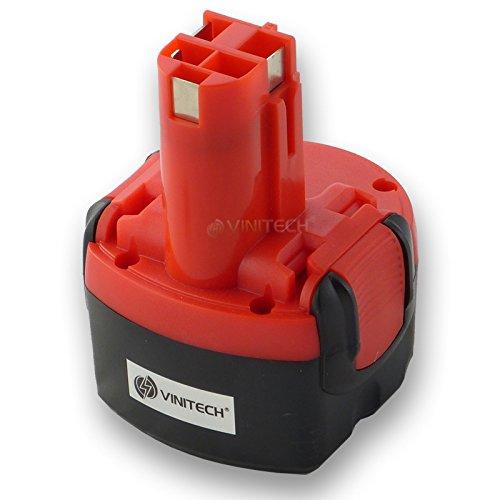 Preisvergleich Produktbild Vinitech Akku für Bosch 9,6V 3300mAh 3,3Ah 23609, 32609, 32609-RT, GDR9.6V, GSR9.6V, GSR9.6-1, GSR9.6-2, 9,6VE-2, PSR 9,6VE-2, PSR9.6, PSR960 NiMh