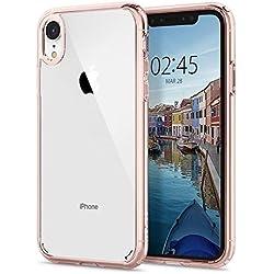 """spigen Funda iPhone XR, [Ultra Hybrid] Tecnología de cojín de Aire y protección híbrida de la caída para iPhone XR 6.1"""" (2018) - [Rosado Crystal] 064CS24875"""