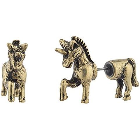 Lux accessori oro unicorno Fake Gauge anteriore