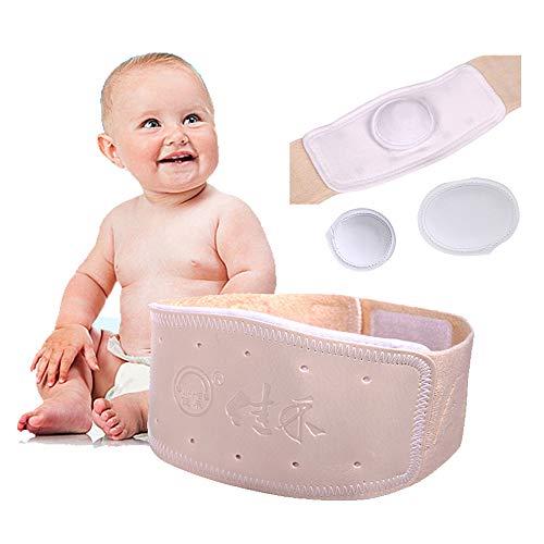 9d5400f1cbbc1 Umbilical Navel Hernia Truss Cinturón para el vientre del bebé Abdominal  Hernia Binder ajustable soporte Wrap