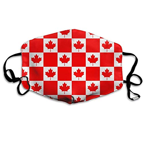 Daawqee Staubschutzmasken, Canada Flag Art Pattern Anti-dust Mouth Mask Face Masks Mouth Cover for Man and Woman - Man Wie Gekleidet