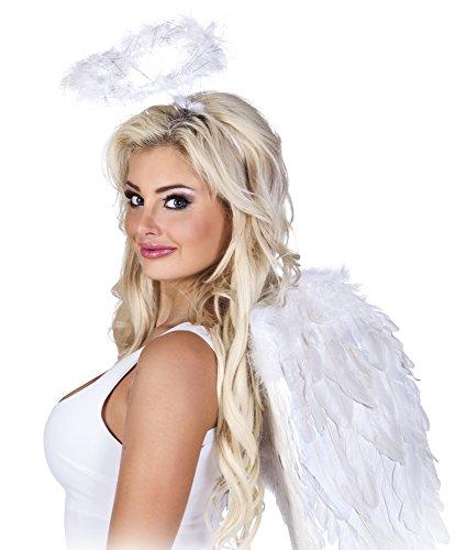 Größe Kinder Halo Kostüm - Panelize Große Engelsflügel + Heiligenschein Engel Christkind Junggesellenabschied