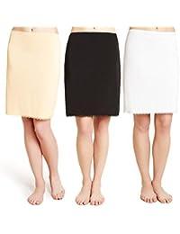 Fa M Ou S Store Confort Cool Taille / Demi À Enfiler, 4 longueurs, 3 Couleurs, Bordure En Dentelle