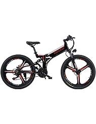 Bicicletas Electricas De Montaña Plegable, E-bike MTB 350W 30 Km/h,