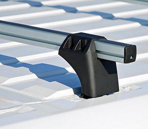 VDP XL Pro 200 Alu Dachträger Lastenträger 200kg für Ford Transit Custom (Kleinbus/Kasten) ab 2013 3 Stangen