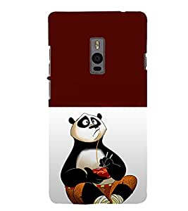 printtech Chinese Panda Cartoon Back Case Cover for OnePlus Two / One plus two / Oneplus 2 / One Plus 2