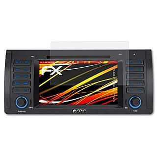 atFoliX Schutzfolie kompatibel mit Pumpkin ND1173B 7 Inch BMW Series Displayschutzfolie, HD-Entspiegelung FX Folie (2X)
