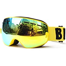 0b5983b187 Huntvp Gafas de Esquí para Niños Cómodo y Respirable Nieve Snowboard  Anti-Niebla y Anti