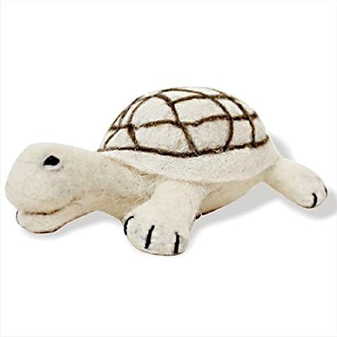 De Kulture Baseball-Kappe funktioniert Schildkröte Kuscheltier und Visitenkarte I handgefertigt Nadel aus Schildkröte Weiches Spielzeug, Figur