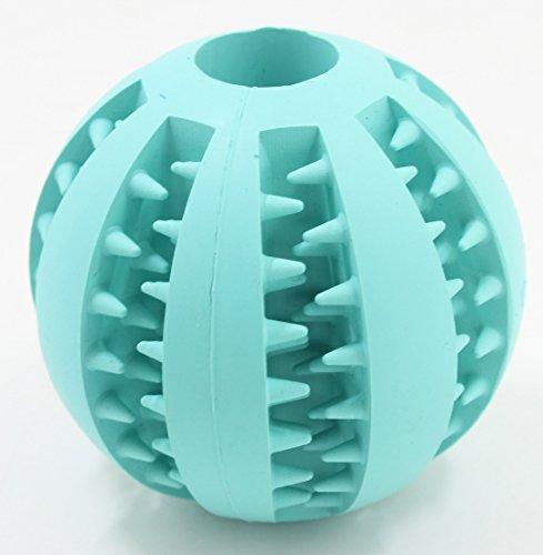 Bild von: 100% ungiftiges Naturkautschuk Pet Kauen-Spielzeug für große und kleine Haustier, Runden Hund Spielzeug-Kugel für Haustier-Mahlzahn,blau